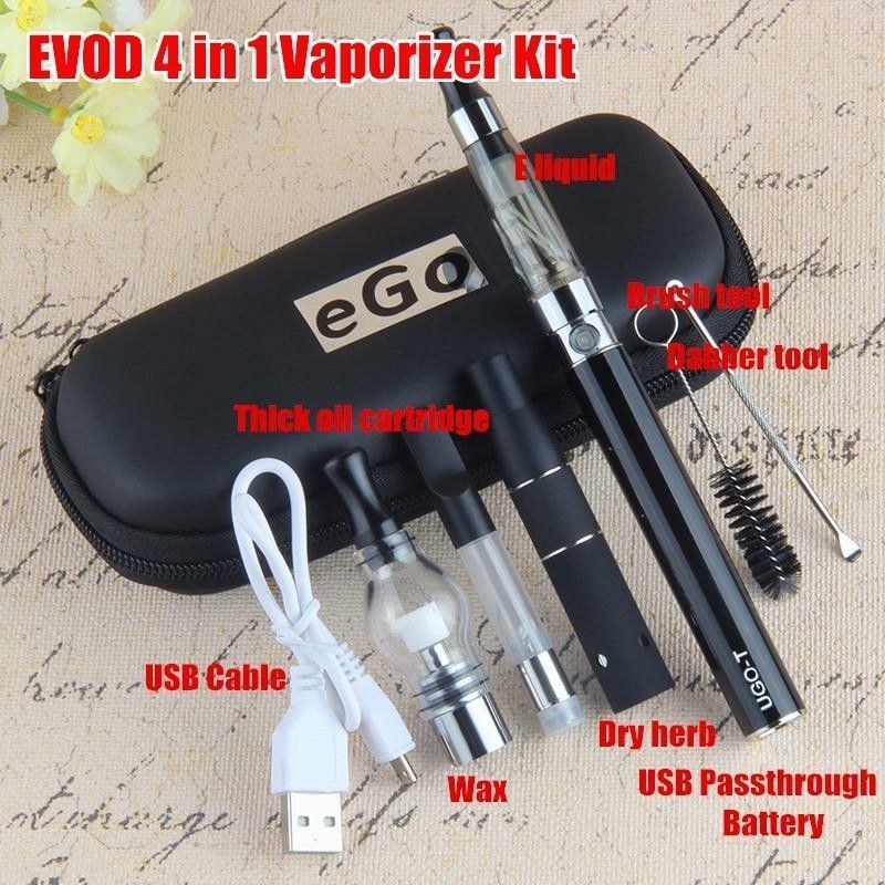 4 in 1 Vape Kit 1100 mAh O-pen dab-dry-herb wax-coil With Case SHIP USA