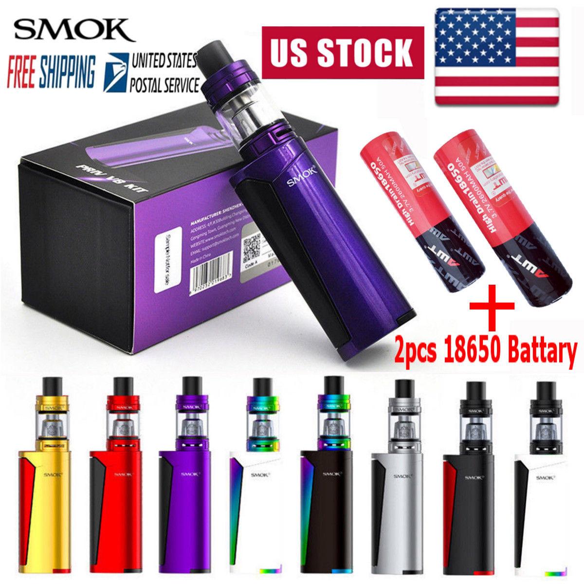 Smok1 60W PRIV V8 Starter Full Vape1 Kit Mod with TFV8 Tank & 2PCS Battery