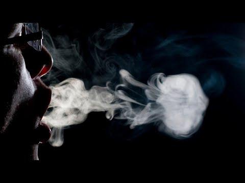 Smoke ring and vape tricks done by Samir