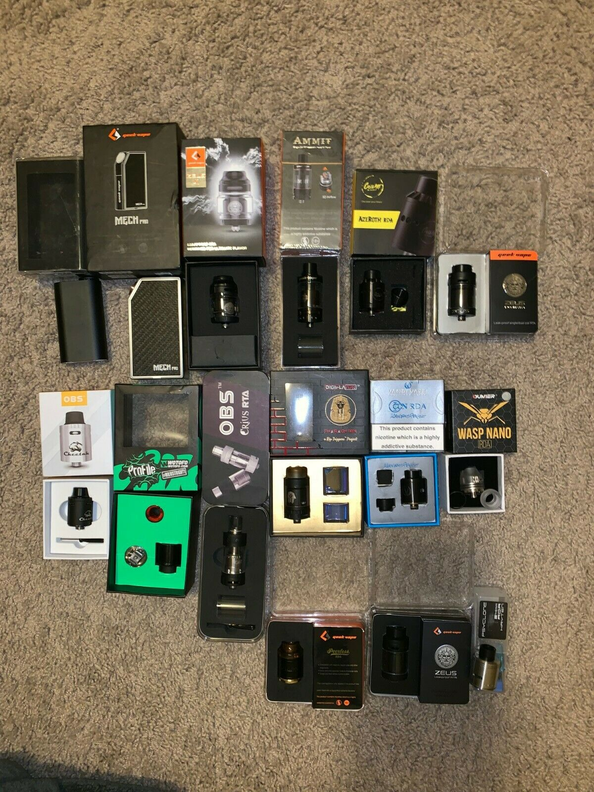Vape Tank and mod combo – ALL CLEANED + BUILDS!!!