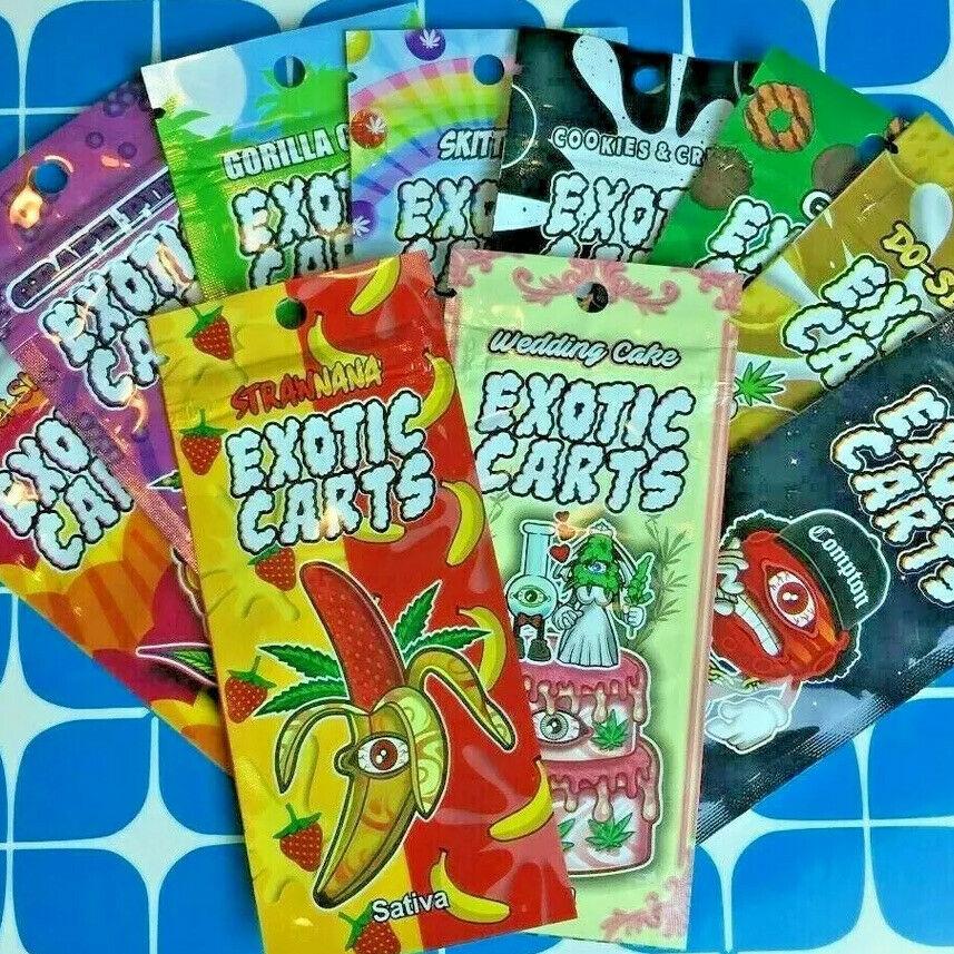 Vape Ziplock Exotic Bags PACKAGING for .5ML or 1ML ** lot of 40 PCS** variety!