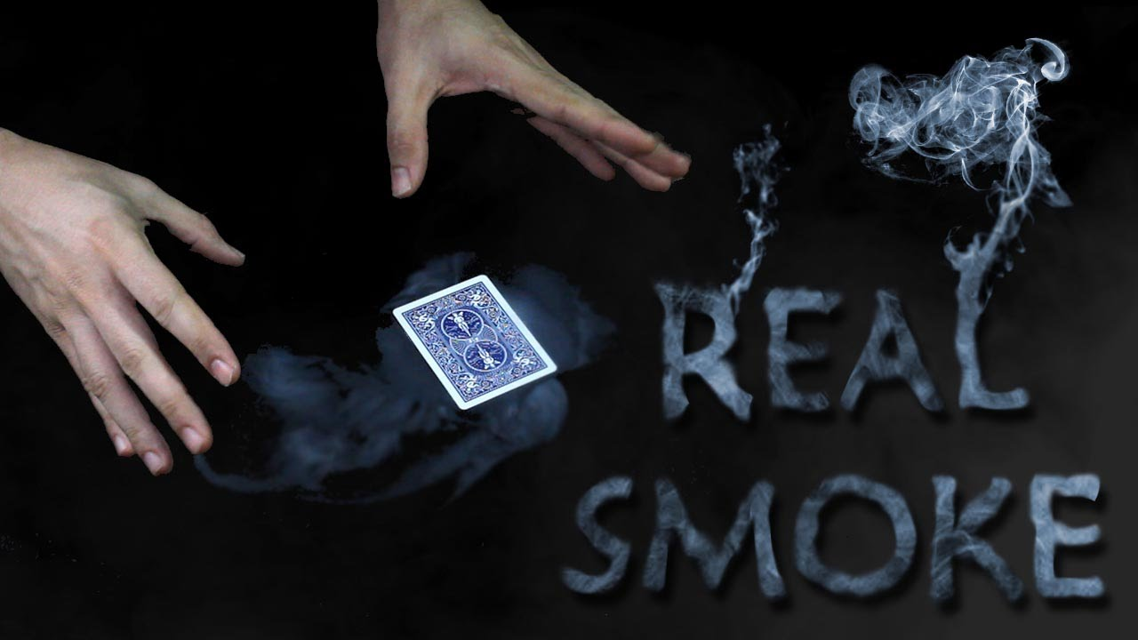 SMOKE FROM HANDS production revealed and card mat – AMAZING Real Smoke Tutorial
